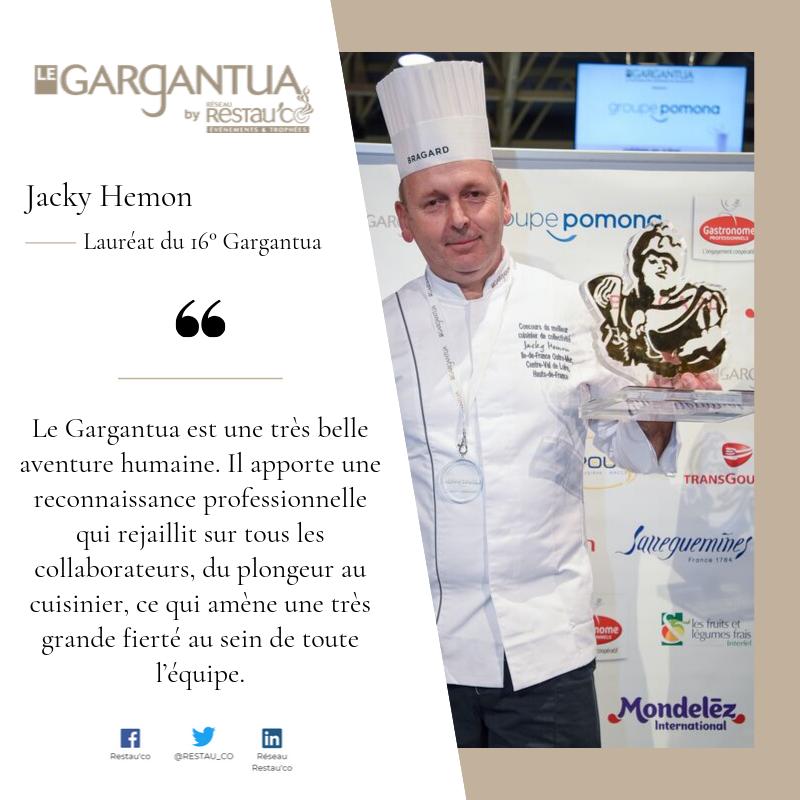 Témoignage de Jacky Hemon, lauréat du 16ème Gargantua